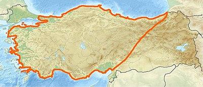 小亚细亚半岛(安纳托利亚)也即现在的土耳其所在半岛
